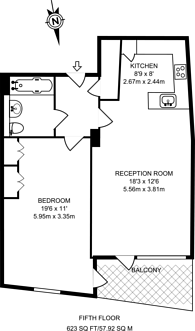 Large floorplan for Avante Court, Kingston, KT1