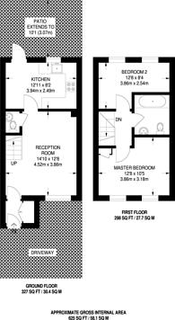 Large floorplan for Royal Close, Stoke Newington, N16