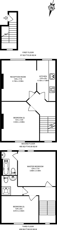 Large floorplan for Tollington Way, Holloway, N7
