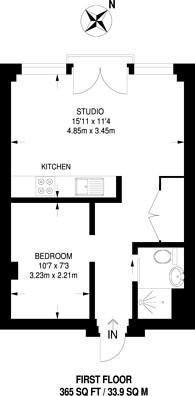 Large floorplan for Cardinal Place, Woking, GU22