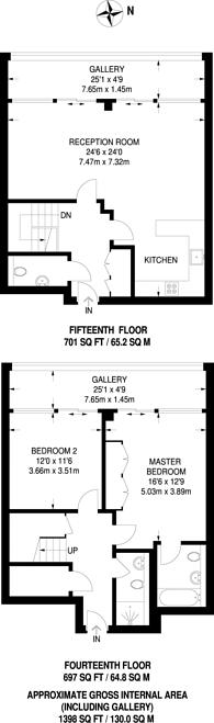 Large floorplan for Falcon Wharf, Battersea, SW11