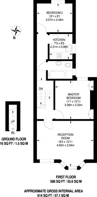 Large floorplan for St Stephens Road, Upton Park, E6