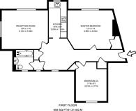 Large floorplan for Addison Way, Hampstead Garden Suburb, NW11
