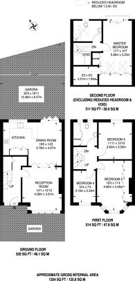 Large floorplan for Queensville Road, Balham, SW12