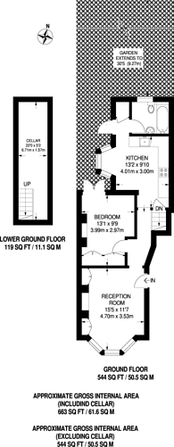 Large floorplan for Lower Mortlake Road, Richmond, TW9