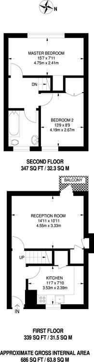 Large floorplan for St Saviours Estate, Bermondsey, SE1