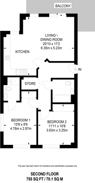 Large floorplan for Dalston Curve, Dalston, E8