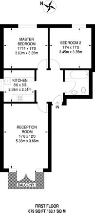 Large floorplan for Victoria Drive, Southfields, SW19