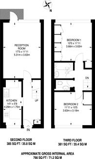 Large floorplan for Carlton Drive, Putney, SW15