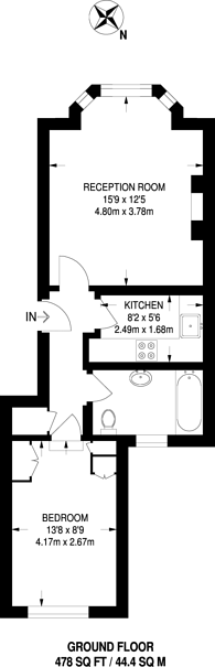 Large floorplan for Radnor Walk, Chelsea, SW3