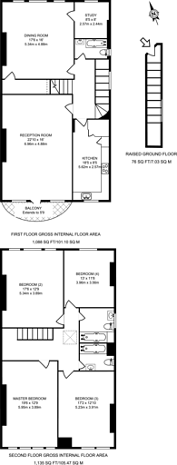 Large floorplan for Belsize Square, Belsize Park, NW3