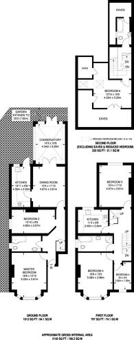 Large floorplan for St Quintin Avenue, North Kensington, W10
