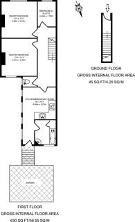 Large floorplan for Kettering Street, Furzedown, SW16