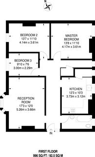 Large floorplan for Bromley Road, Catford, SE6
