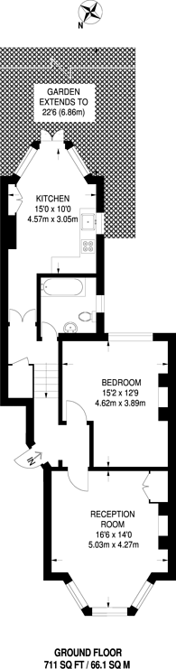 Large floorplan for Newick Road, Clapton, Hackney, E5