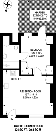 Large floorplan for Vassall Road, Oval, SW9
