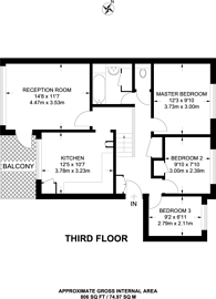 Large floorplan for Beaumont Road, Southfields, SW19