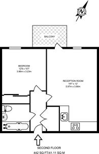 Large floorplan for Hoxtons Wharf, Hoxton, N1