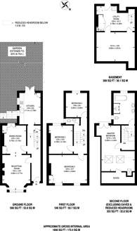 Large floorplan for Coningsby Road, Finsbury Park, N4