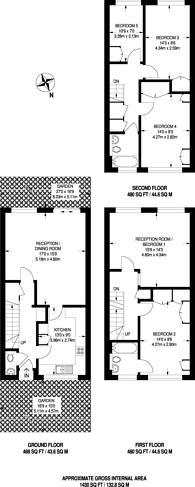 Large floorplan for Ranelagh Place, New Malden, KT3