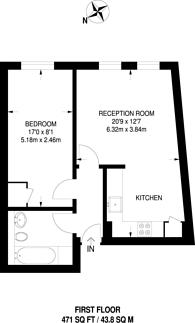 Large floorplan for Mile End Road, Mile End, E1