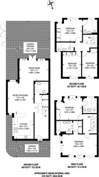 Large floorplan for Middle Field, St John's Wood, NW8