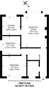 Large floorplan for Abbotts Mead, Ham, TW10