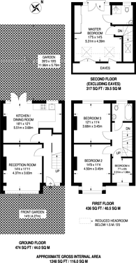 Large floorplan for Abercairn Road, Streatham Vale, SW16