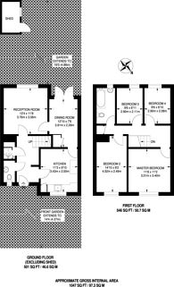 Large floorplan for Coopers Lane, King's Cross, NW1