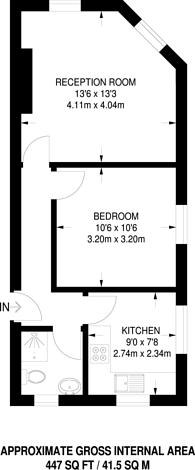 Large floorplan for Well Street, Hackney, E9