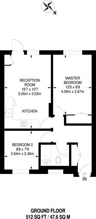 Large floorplan for Claret Gardens, South Norwood, SE25