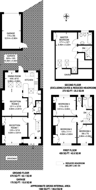 Large floorplan for Brockenhurst Way, Norbury, SW16