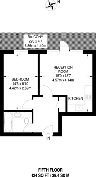 Large floorplan for Maddison Court, Canning Town, E16