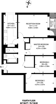Large floorplan for Darfield Way, Notting Hill, W10