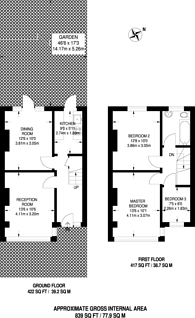Large floorplan for Streatham Vale, Streatham Vale, CR4