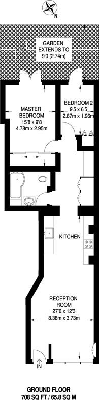 Large floorplan for Alma Road, The Tonsleys, SW18