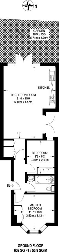 Large floorplan for Atheldene Road, Earlsfield, SW18