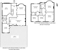 Large floorplan for Dorset Road, Wimbledon, SW19