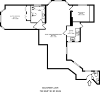 Large floorplan for Warwick Gardens, High Street Kensington, W14