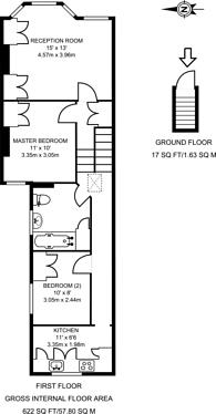 Large floorplan for Stephendale Road, Sands End, SW6