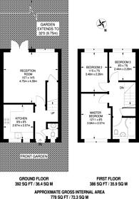 Large floorplan for Granville Road, Finchley, N12