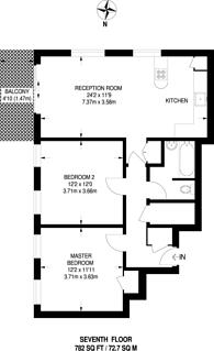 Large floorplan for Denning Point, Spitalfields, E1