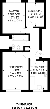 Large floorplan for Brixton Road, Brixton, SW9