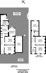 Large floorplan for Underhill Road, East Dulwich, SE22