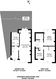 Large floorplan for Saxon Road, Selhurst, SE25
