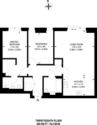 Large floorplan for Saffron Tower, Croydon, CR0