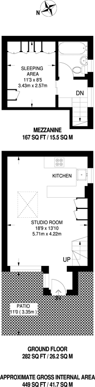 Large floorplan for Limpsfield Avenue, Mitcham, CR7