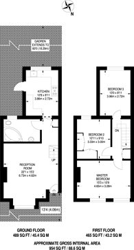 Large floorplan for Havelock Road, Bromley, BR2