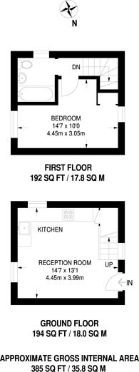 Large floorplan for Westwood Hill., Sydenham, SE26