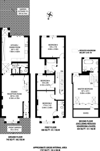 Large floorplan for Wilton Avenue, Chiswick, W4